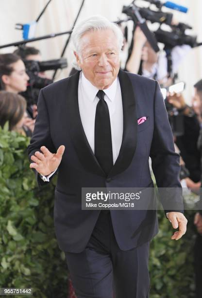 Robert Kraft attends the Heavenly Bodies: Fashion & The Catholic Imagination Costume Institute Gala at The Metropolitan Museum of Art on May 7, 2018...