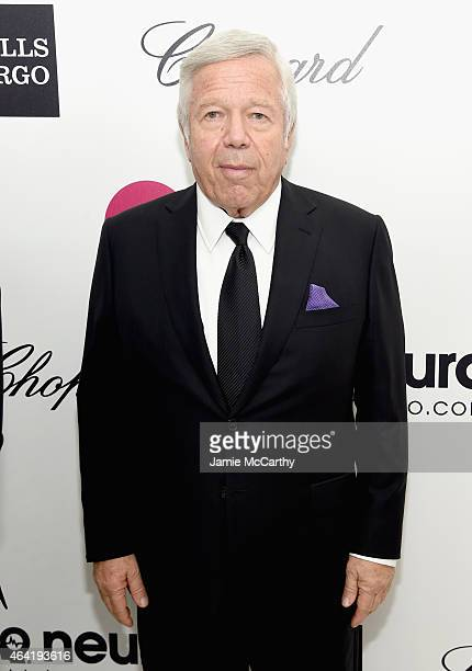 Robert Kraft Chairman and Chief Executive Officer The Kraft Group attends the 23rd Annual Elton John AIDS Foundation Academy Awards Viewing Party on...