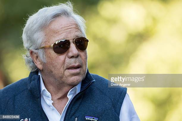 Robert Kraft chief executive officer of the Kraft Group and owner of the New England Patriots football team attends the annual Allen Company Sun...