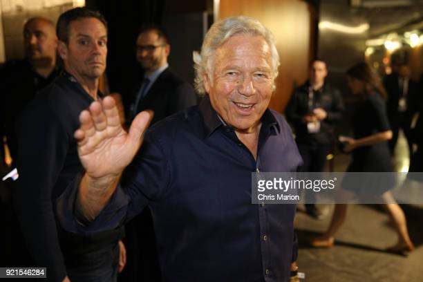 Robert Kraft enjoys the NBA AllStar Game as a part of 2018 NBA AllStar Weekend at STAPLES Center on February 18 2018 in Los Angeles California NOTE...