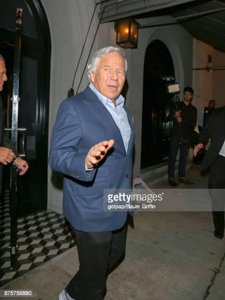 Robert Kraft is seen on November 17, 2017 in Los Angeles, California.