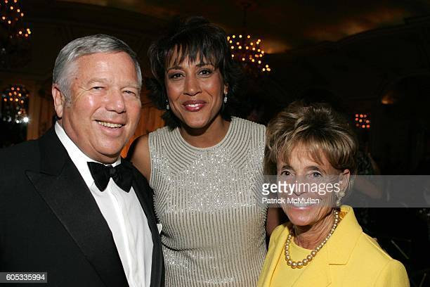 Robert Kraft Robin Roberts and Myra Kraft attend Museum of the Moving Image Honors George Bodenheimer and Stephen Burke at Grand Ballroom on May 4...