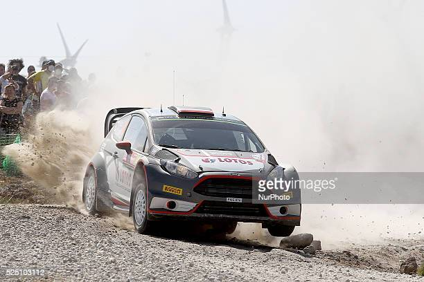 Robert Kubica and Maciek Szczepaniak in Ford Fiesta RS WRC in action during the SS7 Viana do Castelo of WRC Vodafone Rally Portugal 2015 at...
