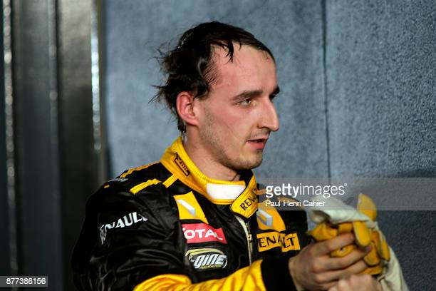 Robert Kubica Grand Prix of Australia Albert Park Melbourne Grand Prix Circuit 28 March 2010 Robert Kubica at the finish of the 2010 Australian Grand...