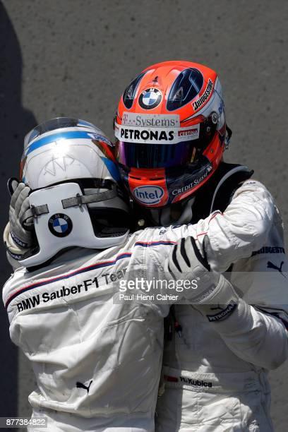 Robert Kubica, Nick Heidfeld, Grand Prix of Canada, Circuit Gilles Villeneuve, 08 June 2008. Nick Heidfeld embraces the victorious Robert Kubica...