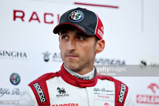 Robert Kubica of Poland and Alfa Romeo Racing is pictured at the roll out of the Alfa Romeo Racing C39 Ferrari during day one of Formula 1 Winter...