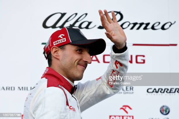 Robert Kubica of Poland and Alfa Romeo Racing waves from the paddock during day one of Formula 1 Winter Testing at Circuit de Barcelona-Catalunya on...
