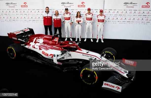 Robert Kubica of Poland and Alfa Romeo, Tatiana Calderon of Colombia and Alfa Romeo, Antonio Giovinazzi of Italy and Alfa Romeo Racing and Kimi...
