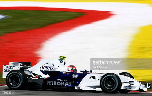 Robert Kubica of Poland and BMW Sauber competes during the practice for the Malaysian Formula One Grand Prix at the Sepang Circuit on April 6 in...
