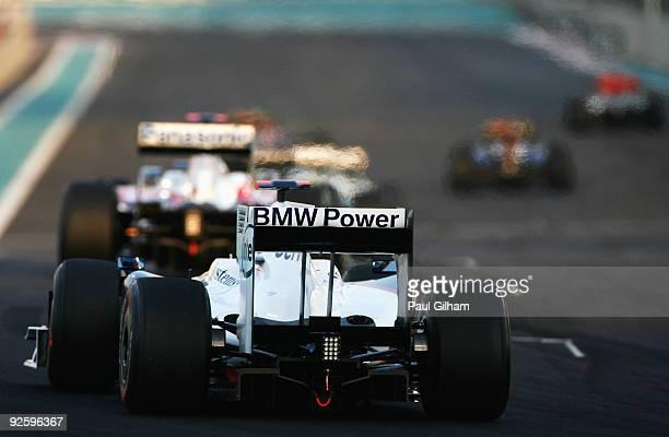 Robert Kubica of Poland and BMW Sauber drives during the Abu Dhabi Formula One Grand Prix at the Yas Marina Circuit on November 1, 2009 in Abu Dhabi,...