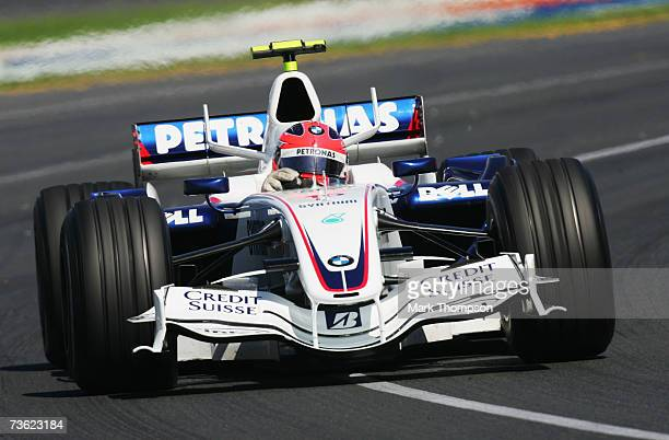 Robert Kubica of Poland and BMW-Sauber in action during the Australian Formula One Grand Prix at the Albert Park Circuit on March 18, 2007 in...