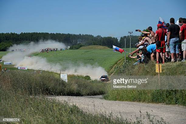 Robert Kubica of Poland and Maciej Szczepaniak of Poland compete in their RK WRT Ford Fiesta RS WRC during Day One of the WRC Poland on July 3 2015...