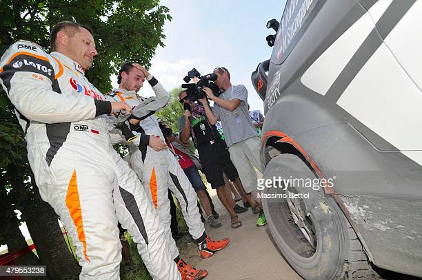 Robert Kubica of Poland and Maciej Szczepaniak of Poland compete in their RK WRT Ford Fiesta RS WRC during Day Three of the WRC Poland on July 5 2015...