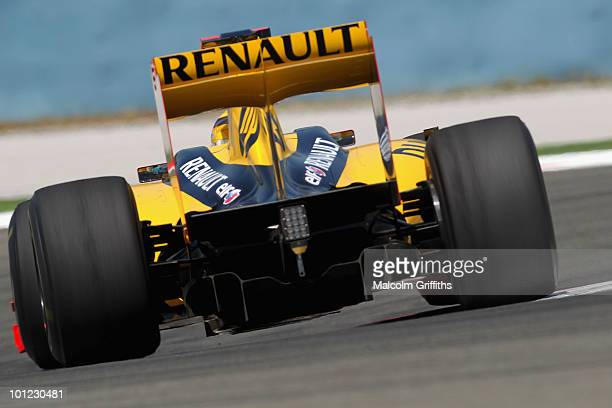 Robert Kubica of Poland and Renault drives during practice for the Turkish Formula One Grand Prix at Istanbul Park on May 28 in Istanbul, Turkey.