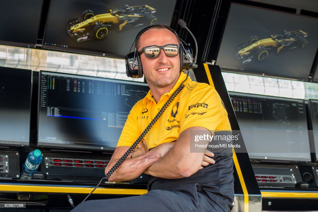 Robert Kubica of Poland and Renault Sport F1 looks on during day one of F1 in-season testing at Hungaroring on August 1, 2017 in Budapest, Hungary.
