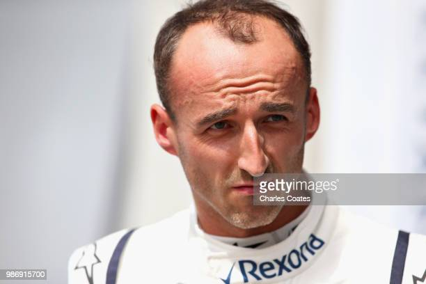 Robert Kubica of Poland and Williams looks on during practice for the Formula One Grand Prix of Austria at Red Bull Ring on June 29 2018 in Spielberg...