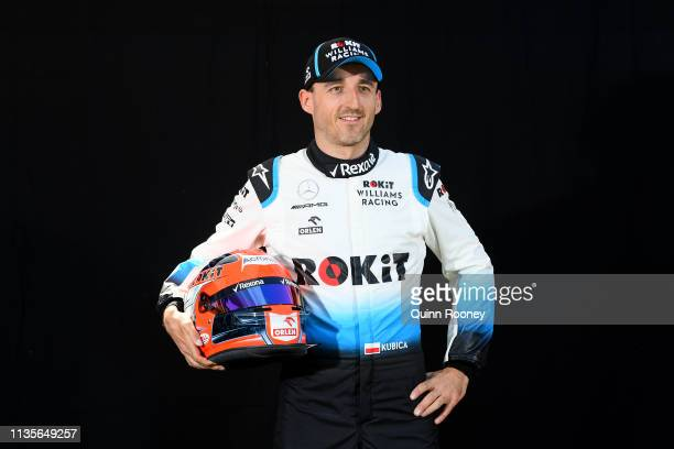 Robert Kubica of Poland and Williams poses for a photo during previews ahead of the F1 Grand Prix of Australia at Melbourne Grand Prix Circuit on...