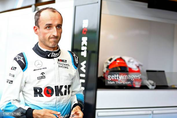 Robert Kubica of Poland and Williams prepares to drive during practice for the F1 Grand Prix of Hungary at Hungaroring on August 02 2019 in Budapest...