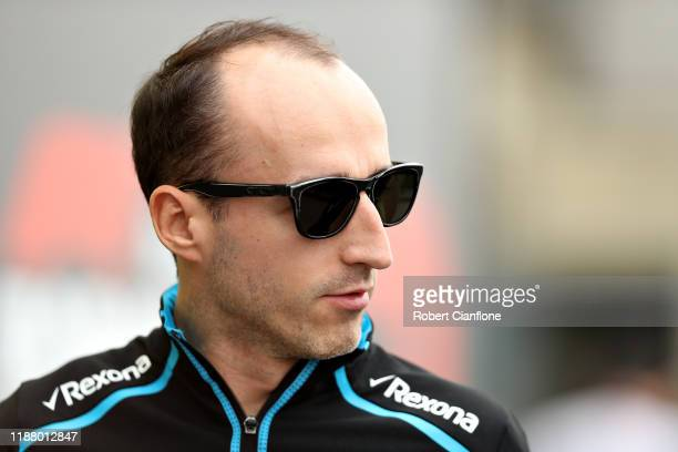 Robert Kubica of Poland and Williams walks in the Paddock before final practice for the F1 Grand Prix of Brazil at Autodromo Jose Carlos Pace on...