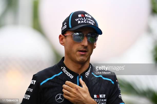 Robert Kubica of Poland and Williams walks in the Paddock during previews ahead of the F1 Grand Prix of Singapore at Marina Bay Street Circuit on...