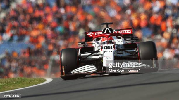 Robert Kubica of Poland driving the Alfa Romeo Racing C41 Ferrari during final practice ahead of the F1 Grand Prix of The Netherlands at Circuit...