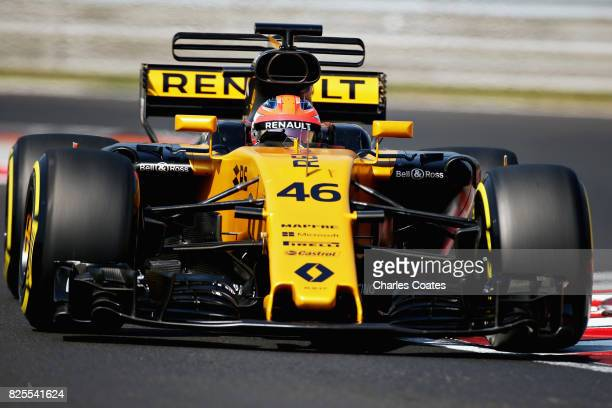 Robert Kubica of Poland driving the Renault Sport Formula One Team Renault RS17 during day two of F1 in season testing at Hungaroring on August 2...