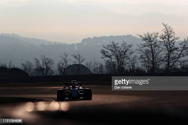 Robert Kubica of Poland driving the Rokit Williams Racing FW42 Mercedes on track during day four of F1 Winter Testing at Circuit de Catalunya on...