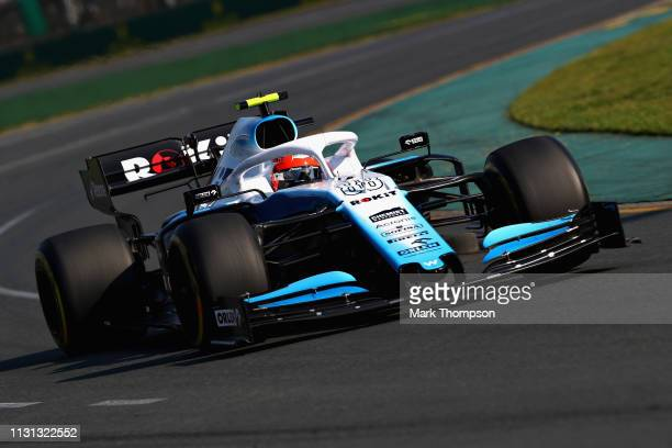 Robert Kubica of Poland driving the Rokit Williams Racing FW42 Mercedes on track during the F1 Grand Prix of Australia at Melbourne Grand Prix...