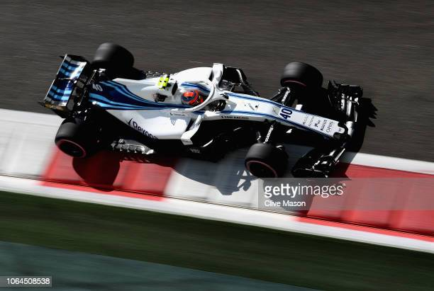 Robert Kubica of Poland driving the Williams Martini Racing FW41 Mercedes on track during practice for the Abu Dhabi Formula One Grand Prix at Yas...