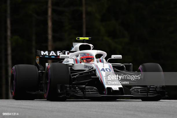 Robert Kubica of Poland driving the Williams Martini Racing FW41 Mercedes on track during practice for the Formula One Grand Prix of Austria at Red...