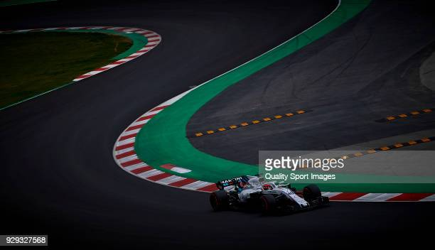 Robert Kubica of Poland driving the Williams Martini Racing FW41 Mercedes during day three of F1 Winter Testing at Circuit de Catalunya on March 8...
