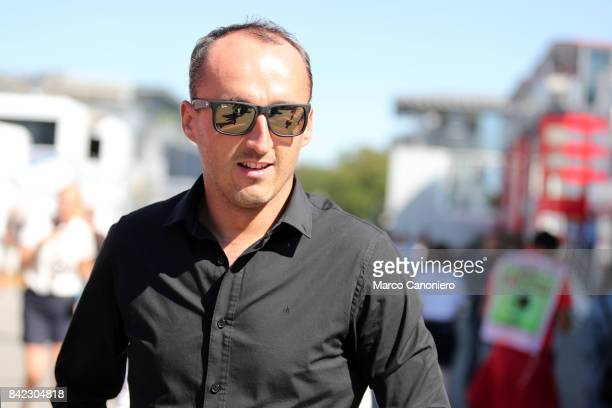 Robert Kubica of Poland in the Paddock during the Italian Formula One Grand Prix