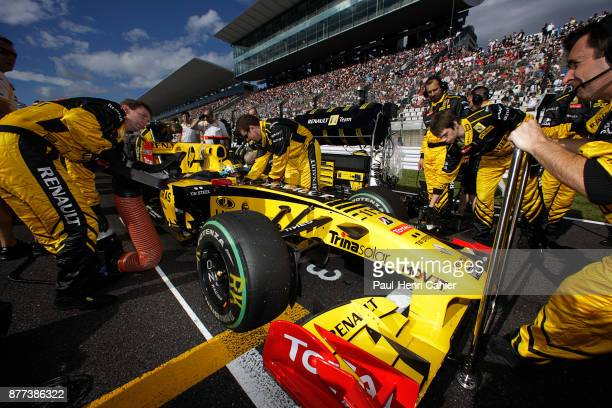 Robert Kubica Renault R30 Grand Prix of Japan Suzuka Circuit 10 October 2010 Robert Kubica on the starting grid of the 2010 Japanese Grand Prix in...