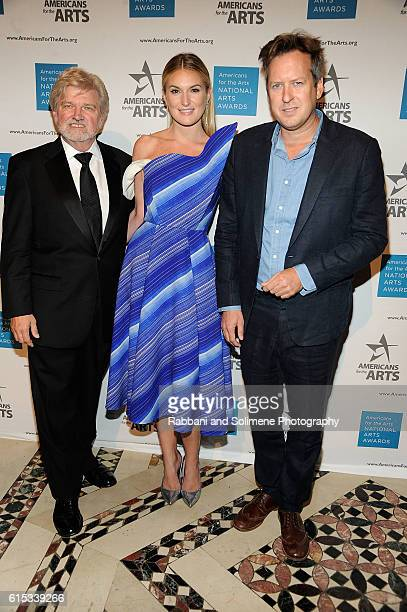 Robert L Lynch Sarah Arison and Doug Aitken attends the 2016 National Arts Awards at Cipriani 42nd Street on October 17 2016 in New York City
