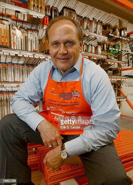 Robert L Nardelli chairman president and CEO of The Home Depot stands at the company's training facility April 21 2003 in Atlanta Georgia