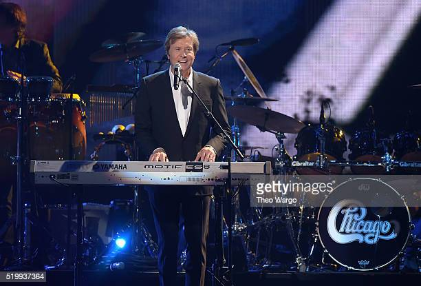 Robert Lamm of Chicago performs at the 31st Annual Rock And Roll Hall Of Fame Induction Ceremony at Barclays Center on April 8 2016 in New York City