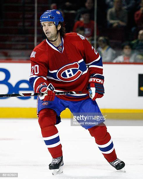 Robert Lang of the Montreal Canadiens skates during the game against the Minnesota Wild at the Bell Centre on October 04 2008 in Montreal Quebec...