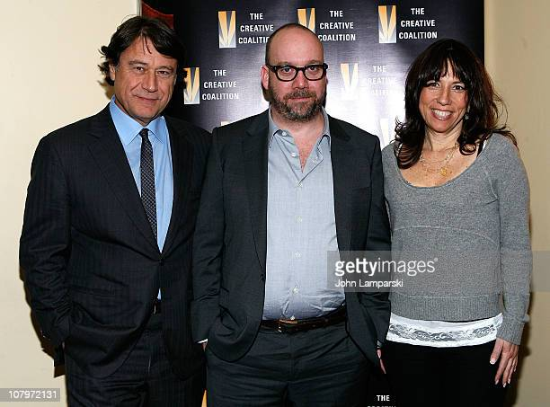 Robert Lantos Paul Giamatti and Robin Bronk attend the screening of 'Barney's Version' during The Creative Coalition's Spotlight Initiative Screening...