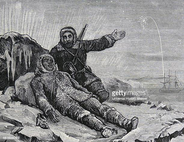 Robert le Mesurier McLure's British Arctic expedition in 'Investigator' 18501854 when he discovered the Northwest Passage Sgt Woon urging a flagging...