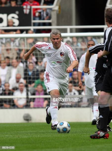 Robert Lee in action during the England v Germany charity match in aid of the Bobby Robson Foundation at St James' Park on July 26 2009 in Newcastle...