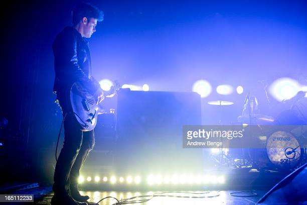 Robert Levon Been of Black Rebel Motorcyle Club performs on stage at O2 Academy on March 30, 2013 in Leeds, England.
