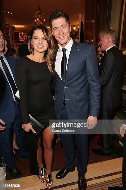 Robert Lewandowski and his wife Anna Lewandowski attend the Audi Generation Award 2015 at Hotel Bayerischer Hof on December 2, 2015 in Munich,...