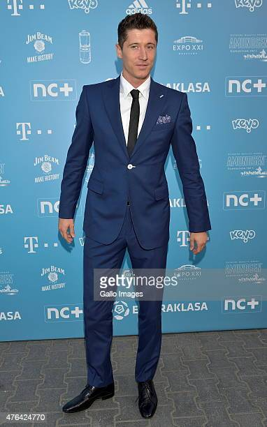 Robert Lewandowski attends the gala for the Ekstraklasa Awards on June 8 2015 in Warsaw Poland The annual awards honors the best coaches and players...
