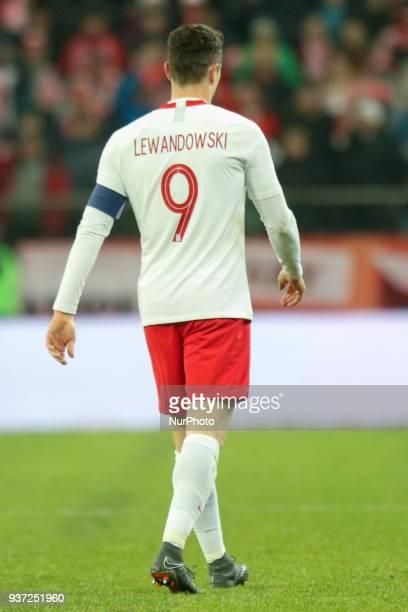 Robert Lewandowski during the international friendly football match of Poland vs Nigeria in Wroclaw Poland on March 23 in preparation of the 2018...