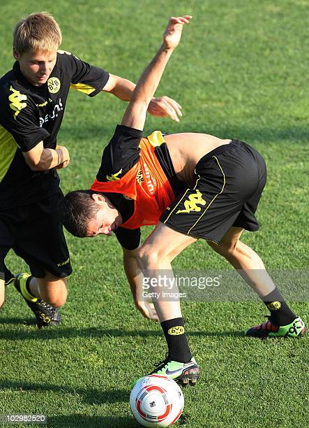 Robert Lewandowski in action during the Borussia Dortmund Training Camp for the upcoming season 2010/2011 on July 19 2010 in Stegersbach Austria