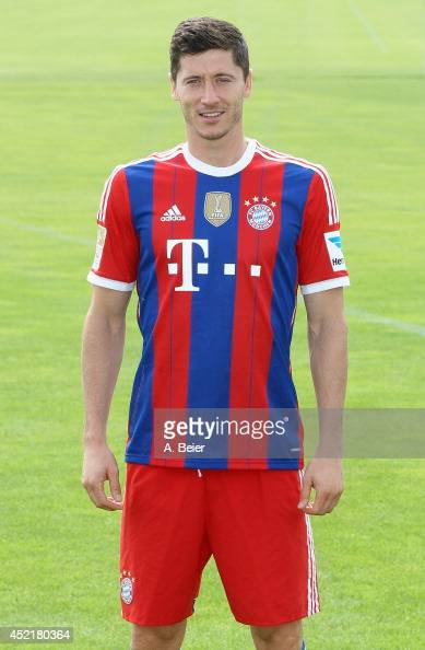 Robert Lewandowski, new player of FC Bayern Muenchen, is ...