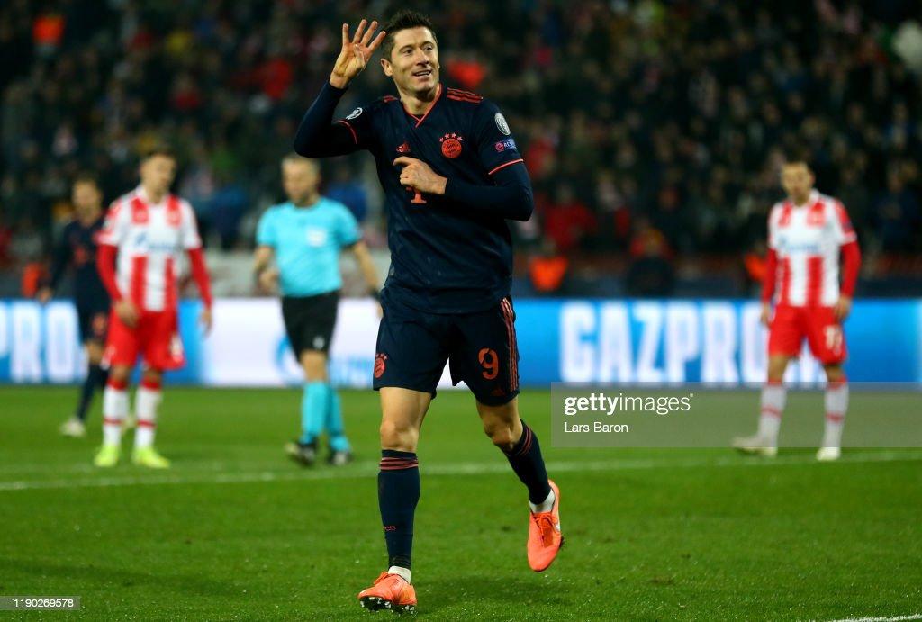 Crvena Zvezda v Bayern Muenchen: Group B - UEFA Champions League : ニュース写真