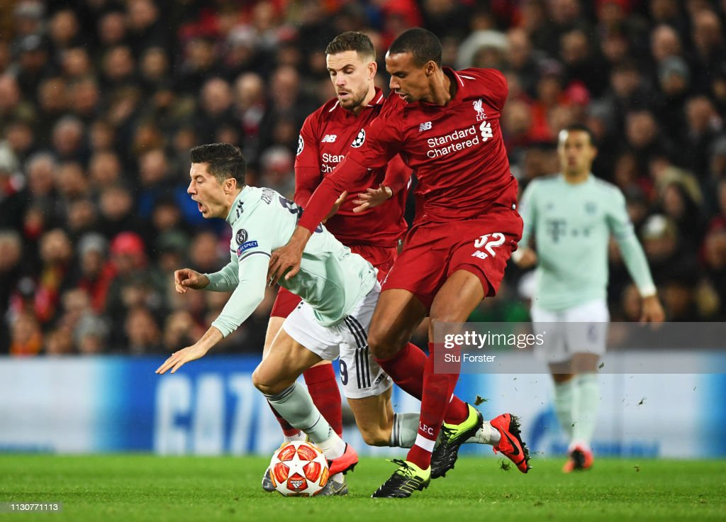 GBR: Liverpool v FC Bayern Muenchen - UEFA Champions League Round of 16: First Leg