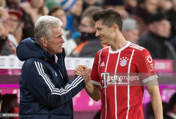 Robert Lewandowski of Munich after his substitution with Jupp Heynckes during the German Bundesliga soccer match between Bayern Munich and RB Leipzig...