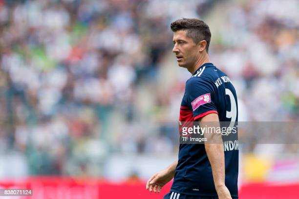 Robert Lewandowski of Munich looks on during the Telekom Cup 2017 match between Bayern Muenchen and 1899 Hoffenheim at on July 15 2017 in...